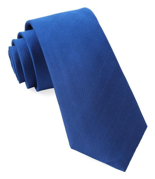 Herringbone Vow Royal Blue Tie