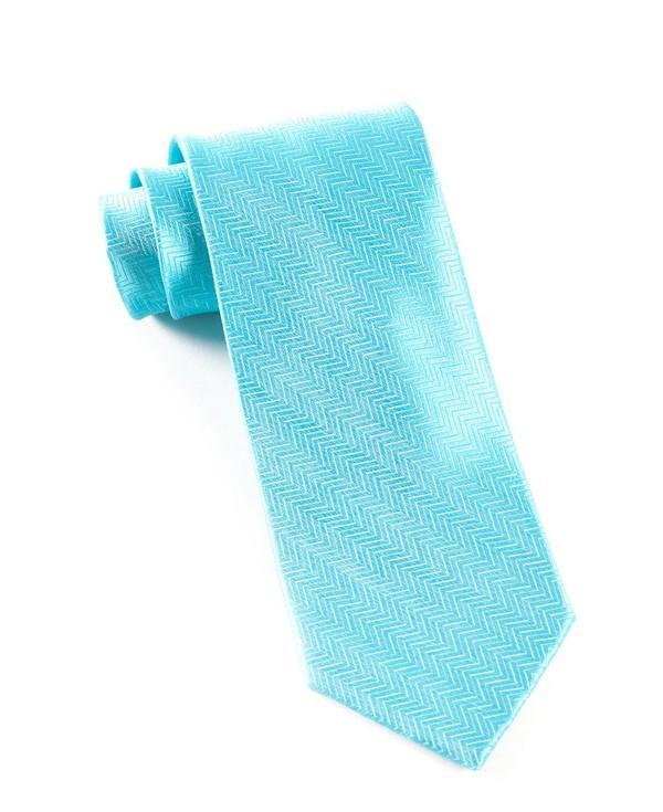 Herringbone Turquoise Tie