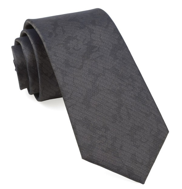 Refinado Floral Charcoal Tie