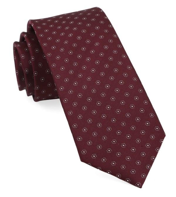 Sparkler Medallions Burgundy Tie