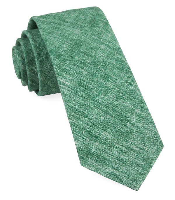 Freehand Solid Green Tie