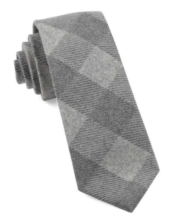 Tebo Plaid Charcoal Tie