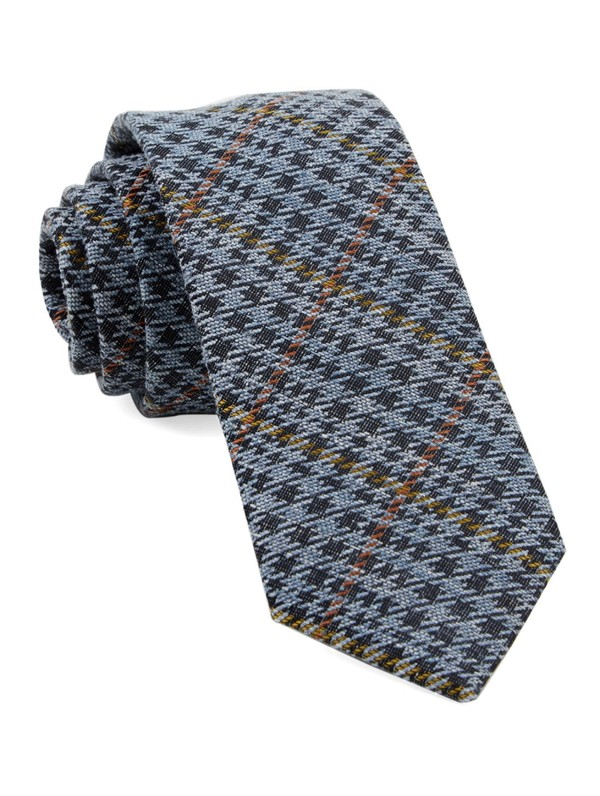 Quinn Plaid Light Blue Tie