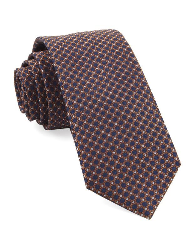 Flower Network Orange Tie