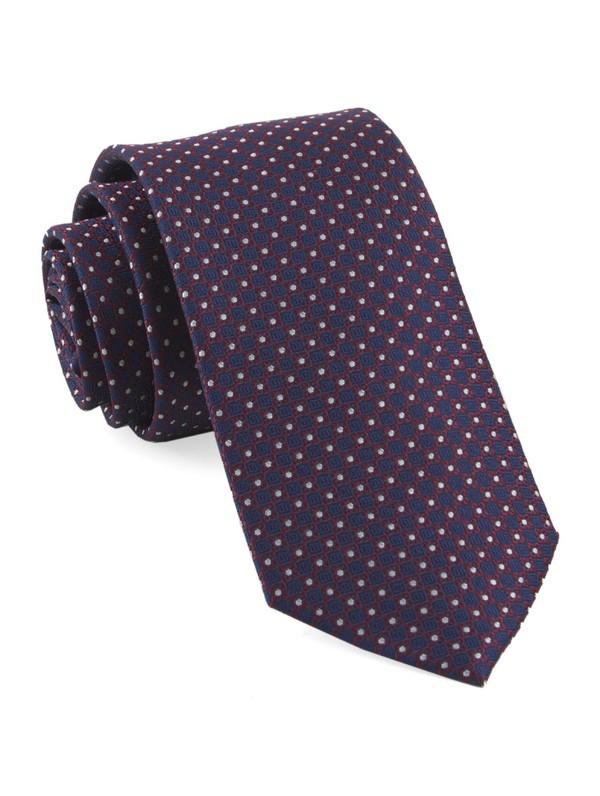 Flower Network Red Tie