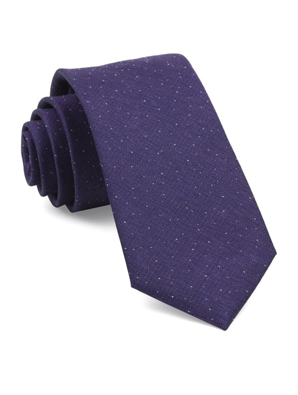 Flecked Solid Purple Tie