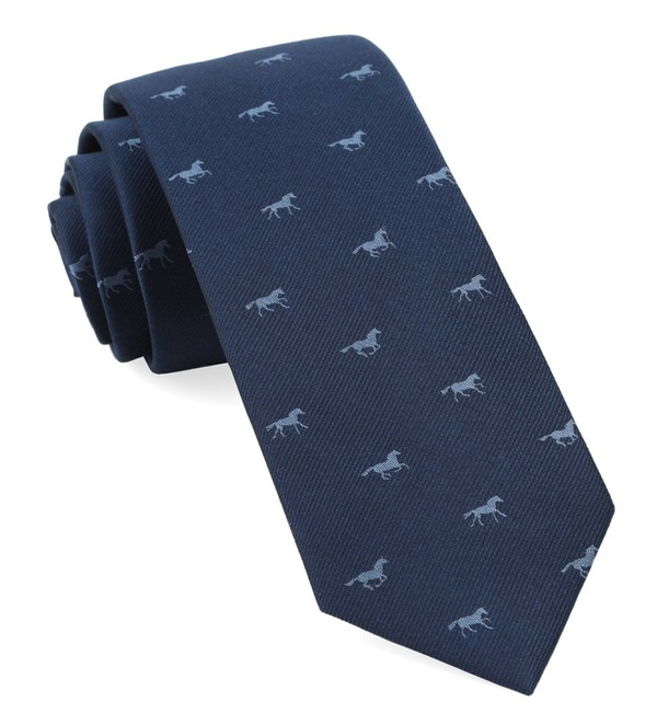 Wild Horses Navy Tie