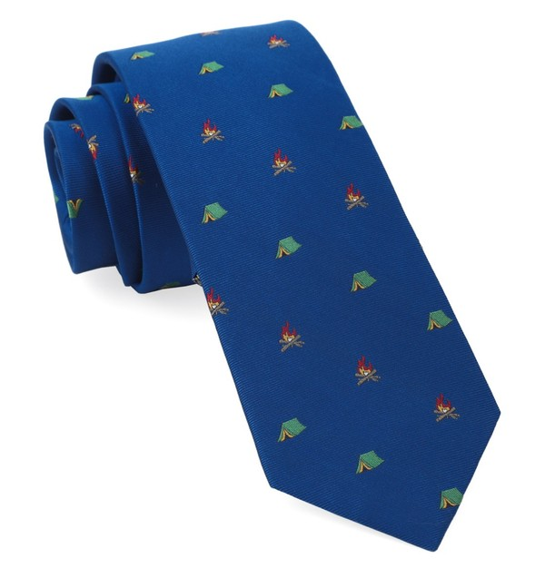 Camp Out Royal Blue Tie