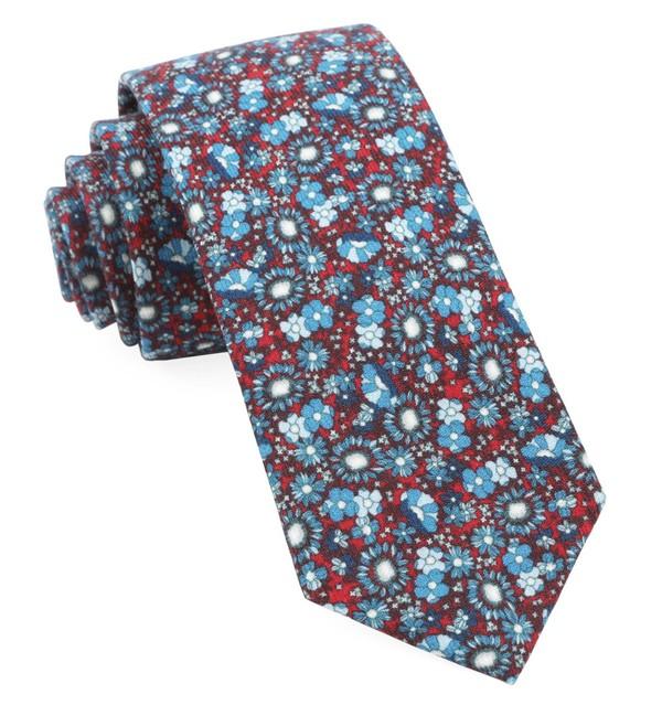 Flower City Red Tie
