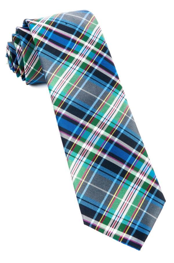 West Village Plaid Grey Tie