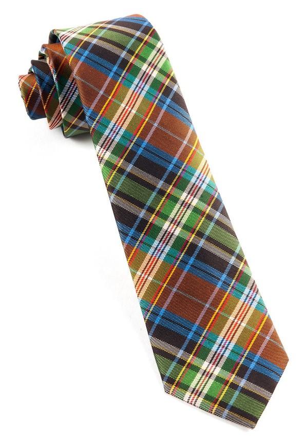 West Village Plaid Orange Tie