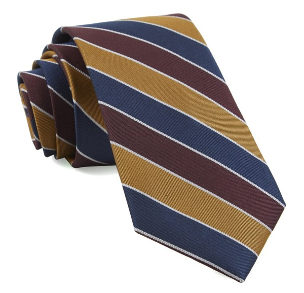 Bedford Stripe Burgundy Tie