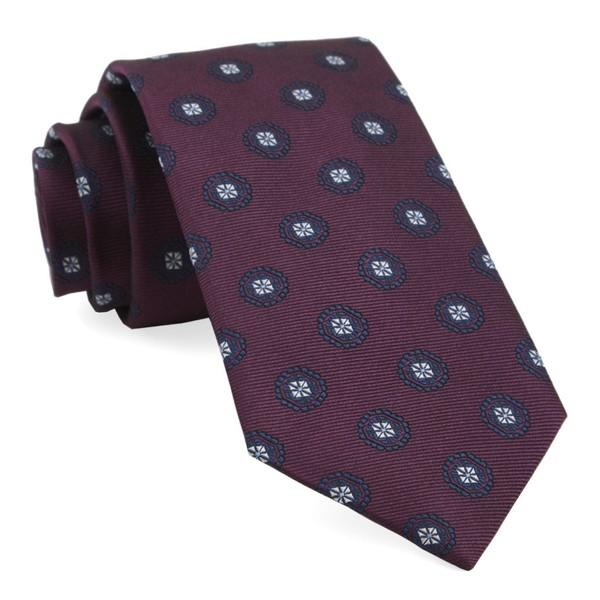 Counter Medallions Burgundy Tie
