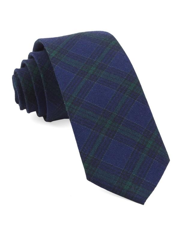 Pittsfield Plaid Navy Tie