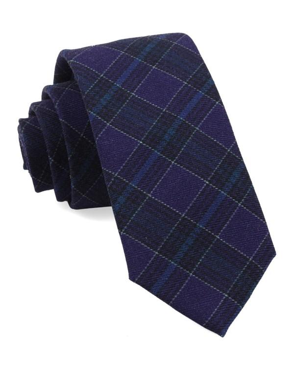 Pittsfield Plaid Eggplant Tie