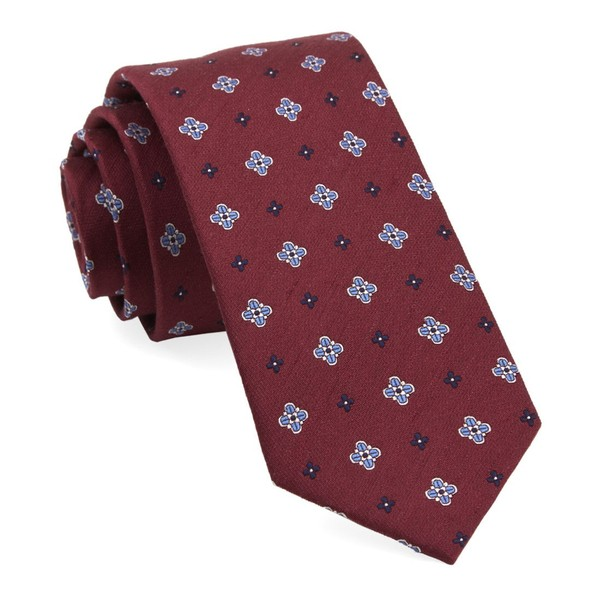 Harbor Medallions Burgundy Tie