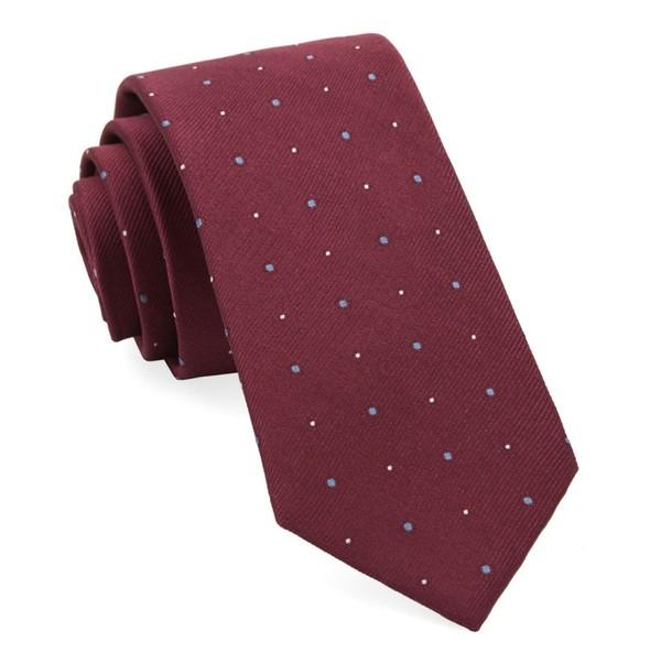 Delisa Dots Burgundy Tie