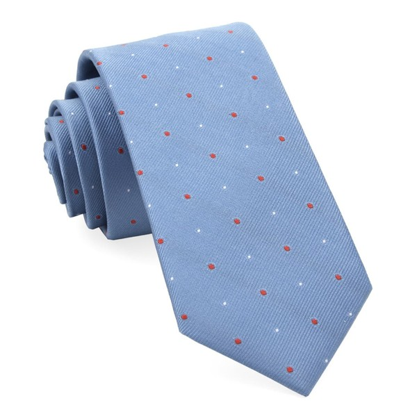 Delisa Dots Light Blue Tie
