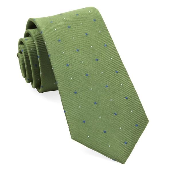 Delisa Dots Green Tie