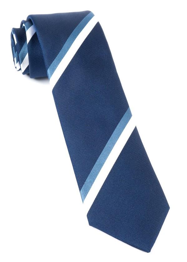 Ad Stripe Navy Tie