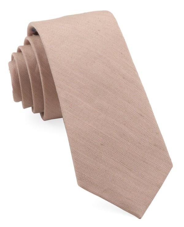 Bhldn Linen Row Rose Quartz Tie