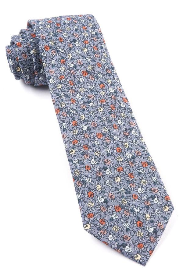 Floral Buzz Grey Tie
