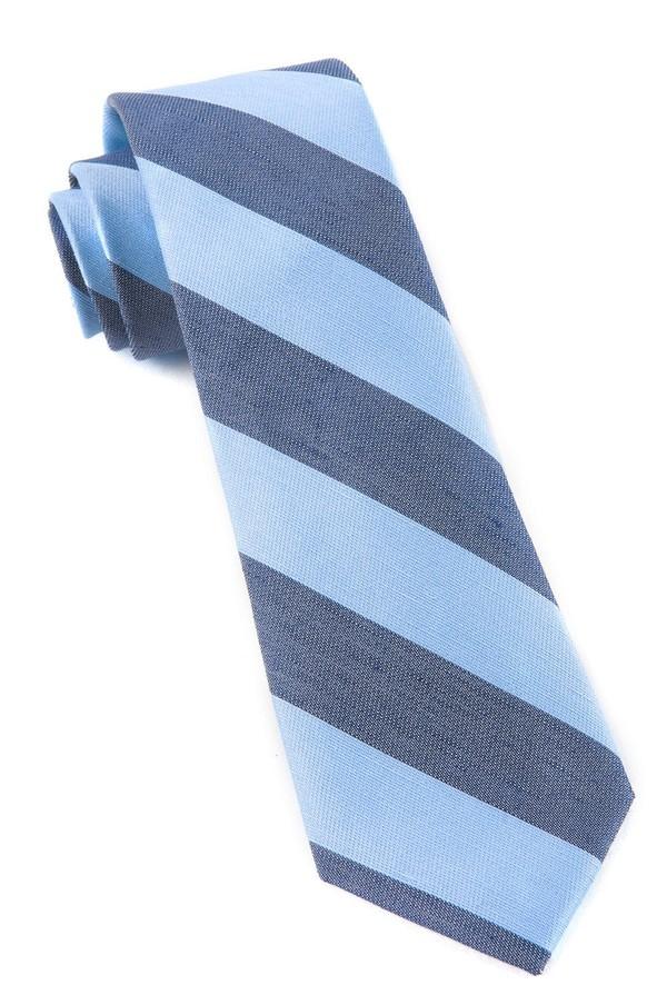 Levi Stripe Sky Blue Tie
