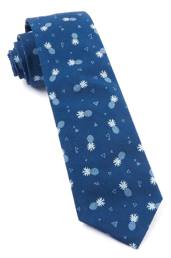 Pineapple Toss Navy Tie