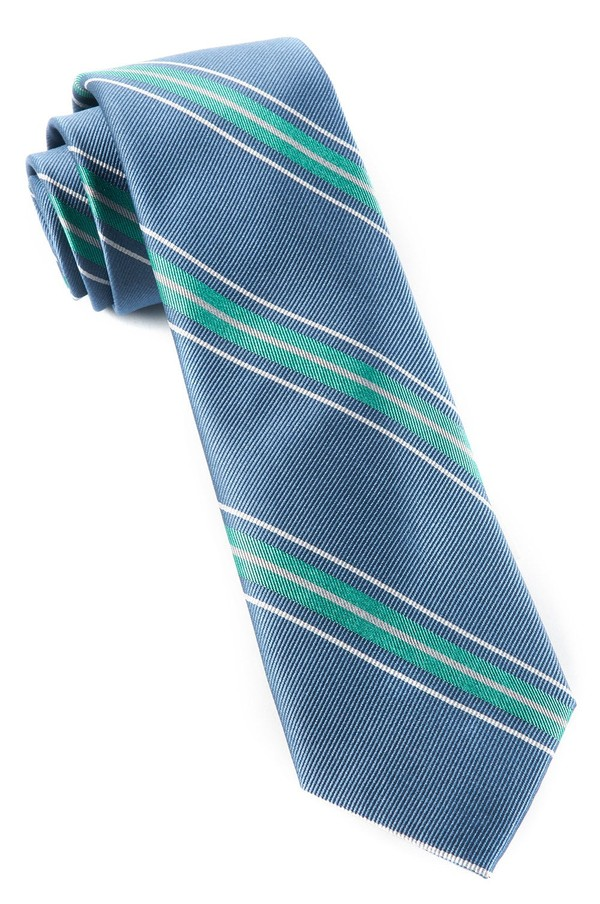 Rival Stripe Mint Tie