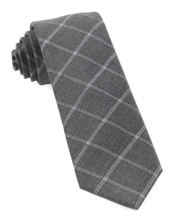 Plaid Graph Grey Tie