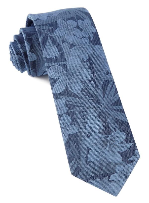 Key West Cotton Deep Serene Blue Tie
