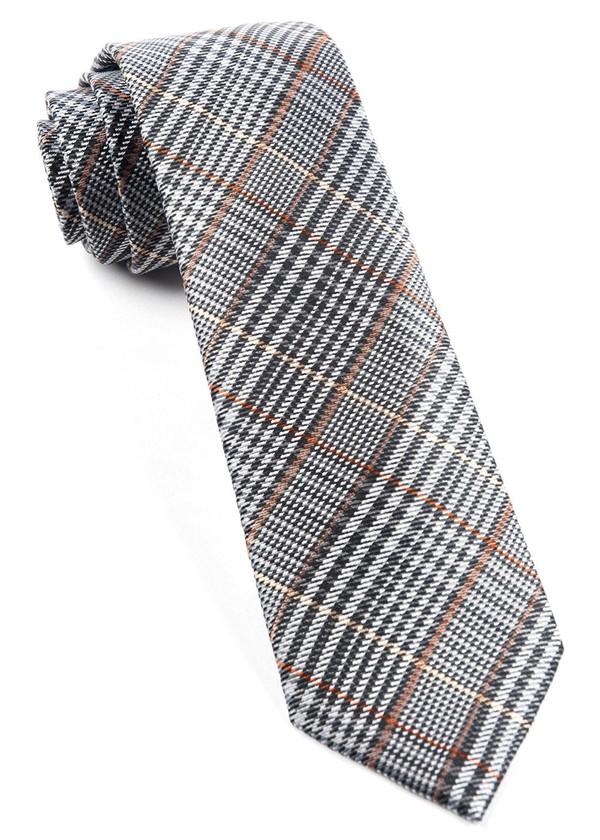 Professor Plaid Grey Tie