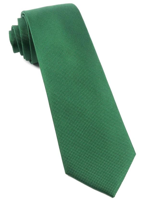 Solid Texture Clover Green Tie