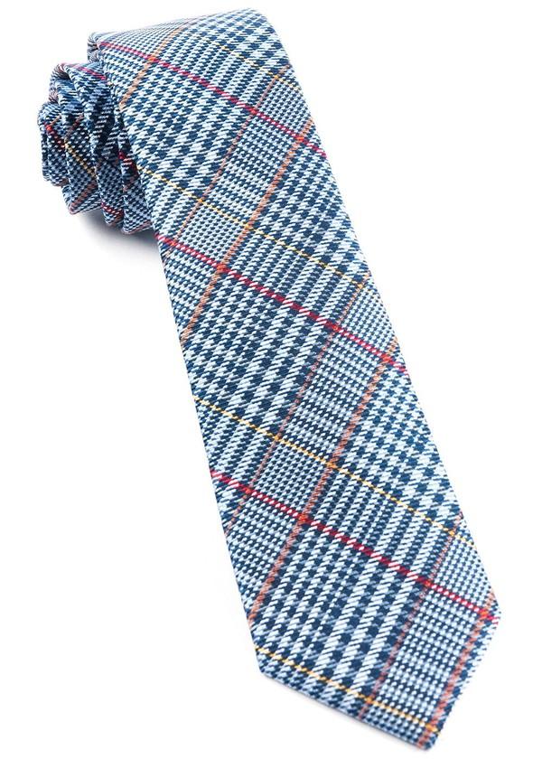 Professor Plaid Light Blue Tie
