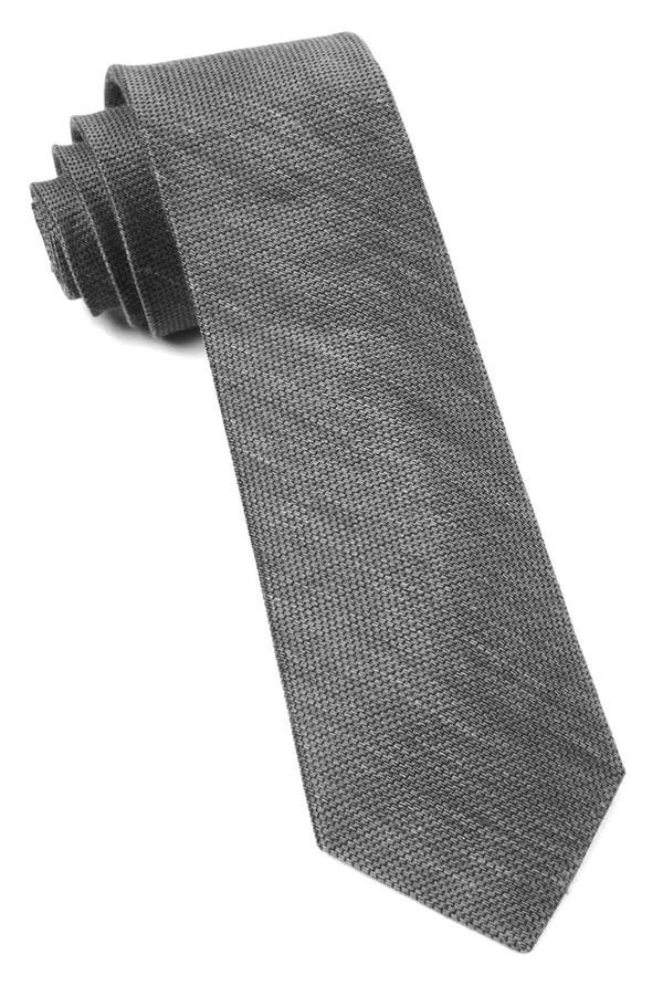 Jet Set Solid Grey Tie
