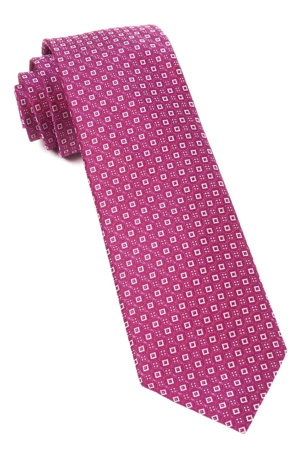 United Medallions Fuchsia Tie