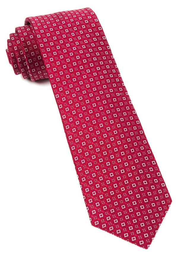 United Medallions Red Tie