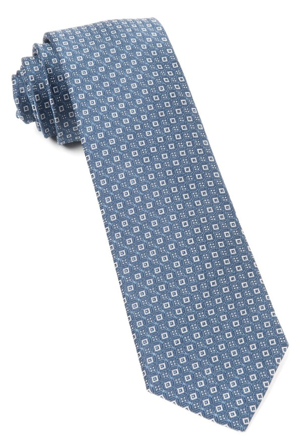 United Medallions Whale Blue Tie
