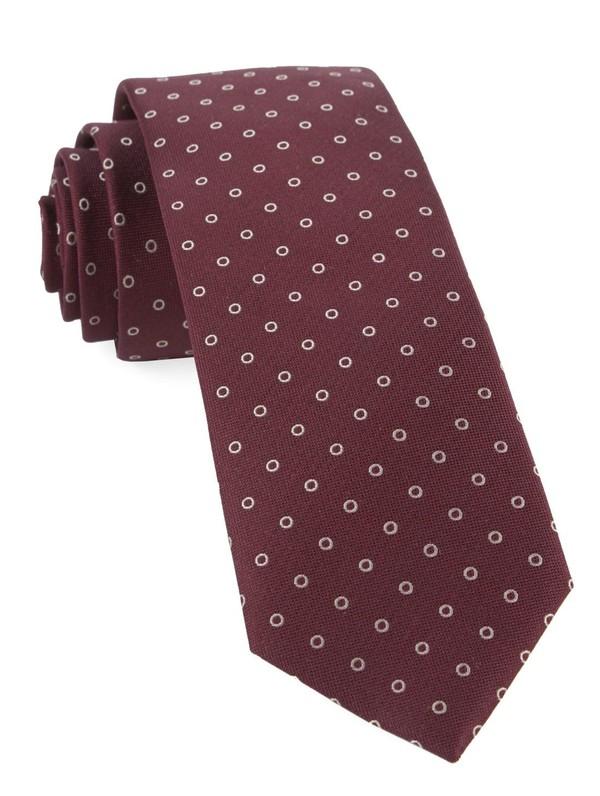 Round Trip Burgundy Tie
