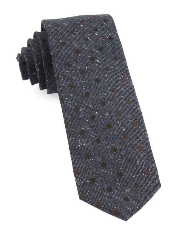 Revolve Dots Deep Serene Blue Tie