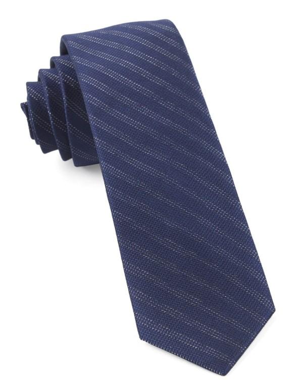 Studded Stripe Navy Tie