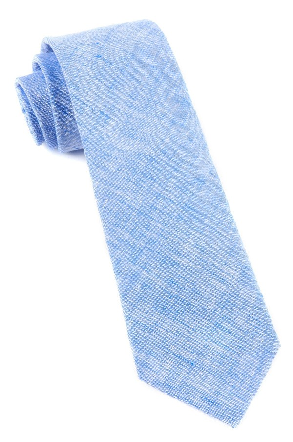 Freehand Solid Light Blue Tie