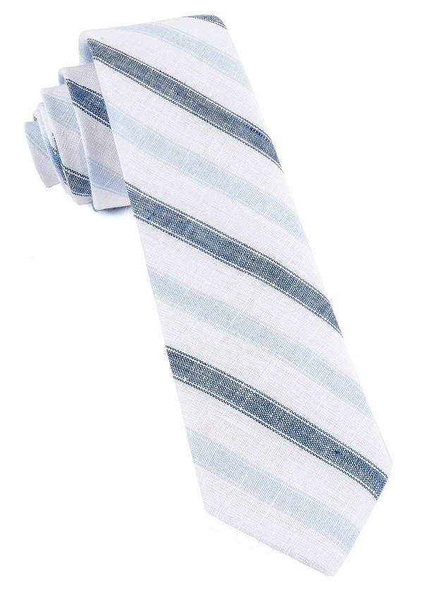 Row Stripe Navy Tie