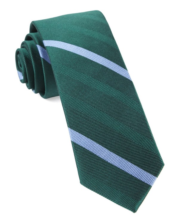 Goal Line Stripe Hunter Green Tie