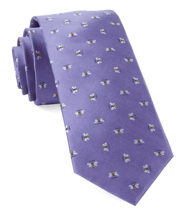 Reeds Bees Lavender Tie