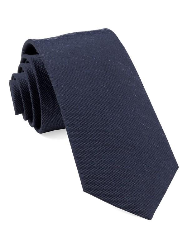 Cardinal Solid Navy Tie
