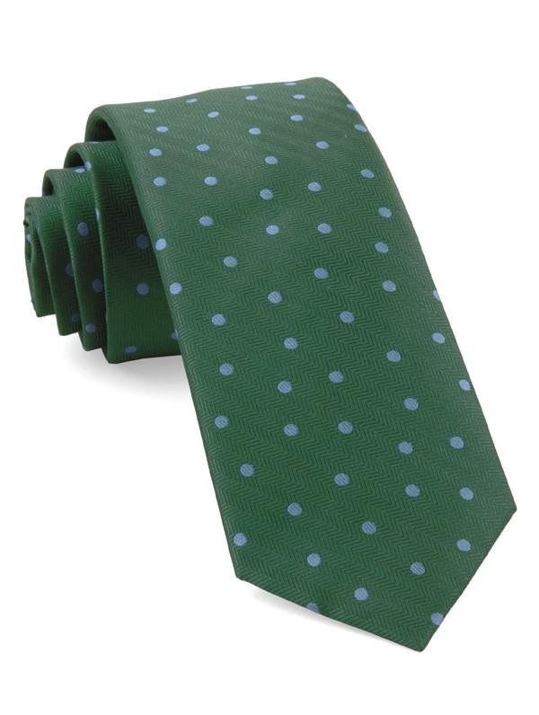 Jackson Dots Kelly Green Tie