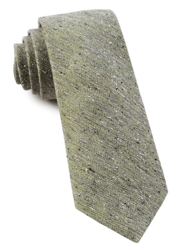 Buff Solid Moss Green Tie