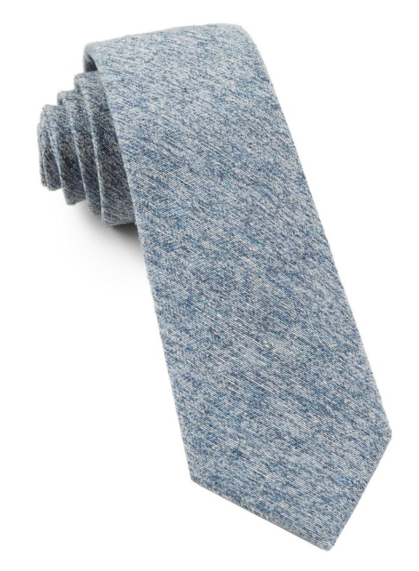 Buff Solid Light Serene Blue Tie