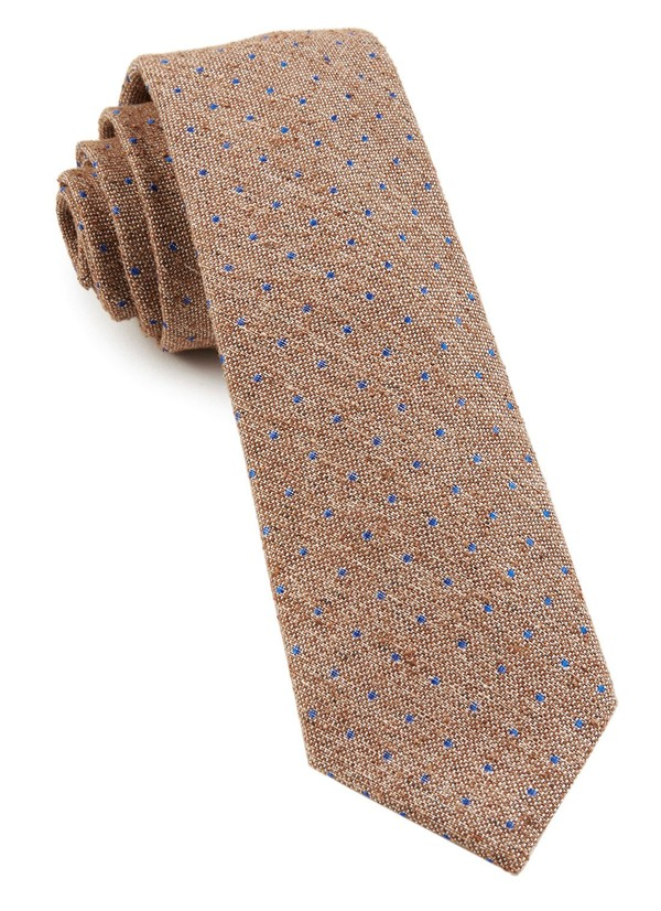 Dotted Peace Brown Tie